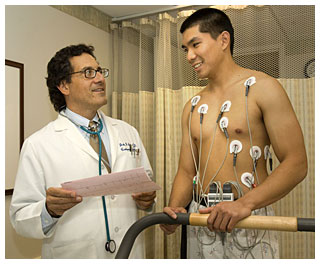 Cardiac stress test at Greenwich Hospital.