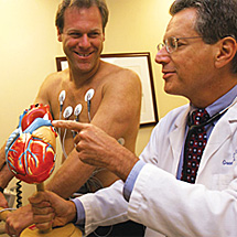 Dr. Stark performing cardiac stress test