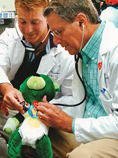 Dr. Stark at Greenwich Hospital's Teddy Bear Clinic